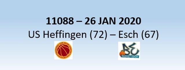 N1H 11088 US Heffingen (72) - Basket Esch (67) 26/01/2020