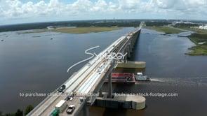 1487 industrial barge traveling under 210 loop Chemical plant