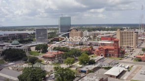 1515 Lake Charles downtown with Historic City Hall video stock footage