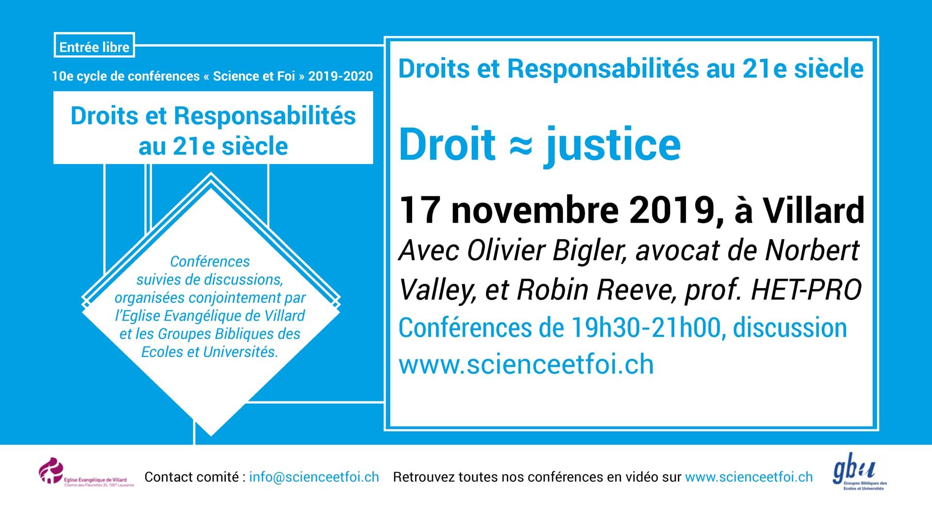 Droit = Justice? 17.11.19
