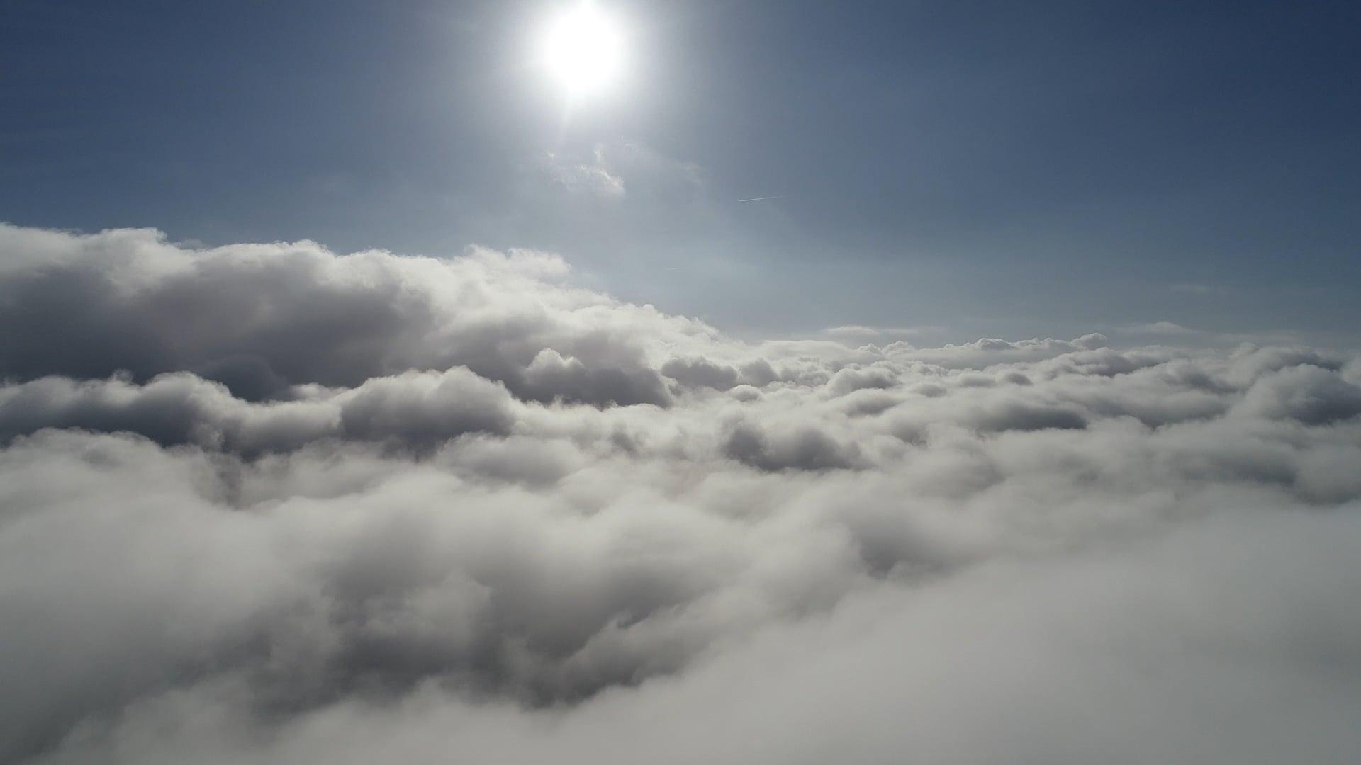 Über den Wolken ... Heute Morgen in Dortmund