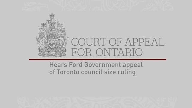 Ontario Court of Appeal Mon. June 10, 2019 Part 1