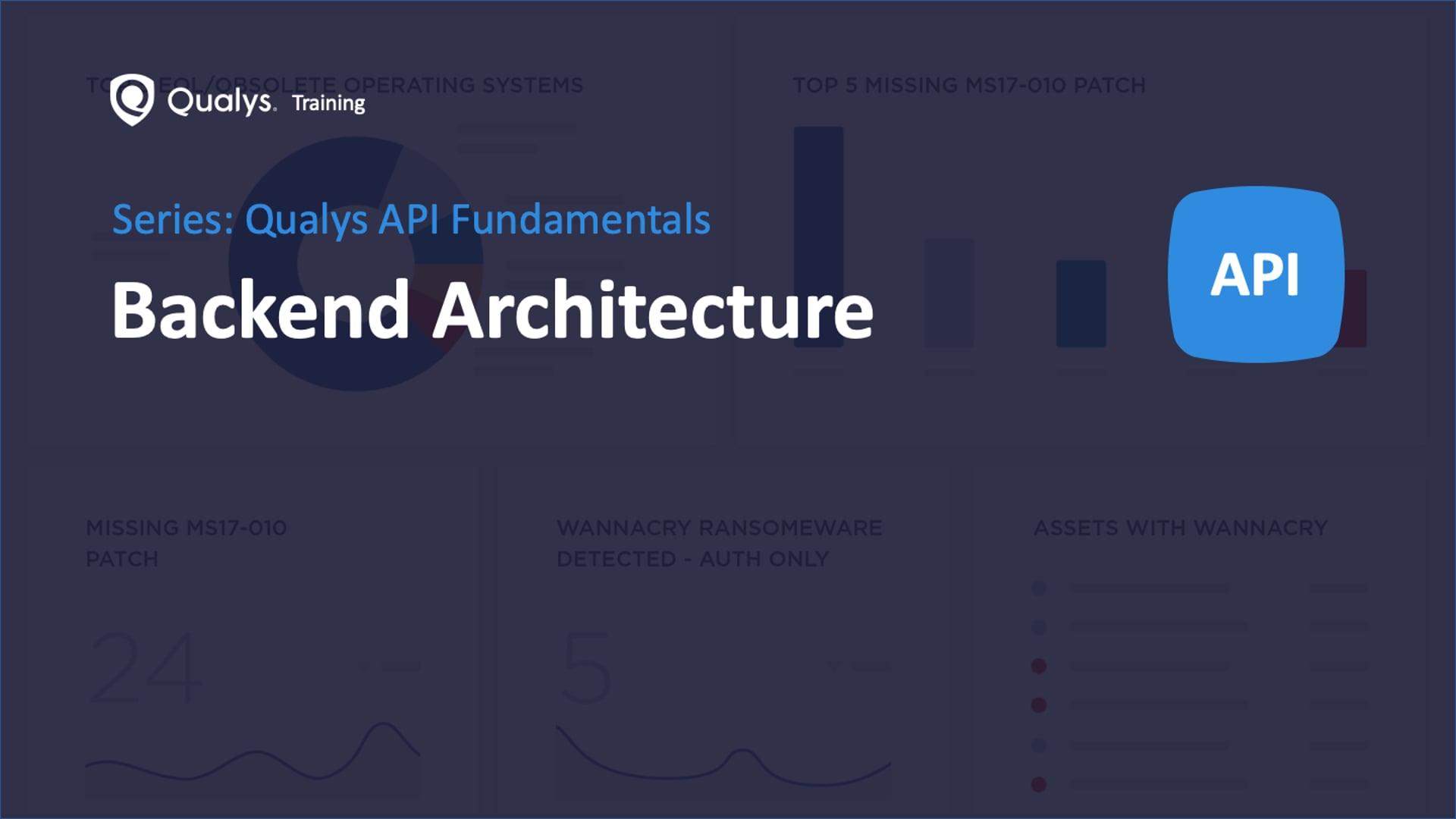 Qualys API - Backend Architecture