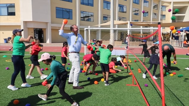 Students engage in a variety of specialist subjects including music, art and physical education.  We have annual sports days where students, teachers and parents all join in on the fun!!