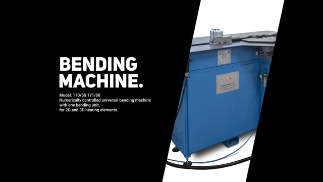 170/50 Universal bending machine for tubular heating elements