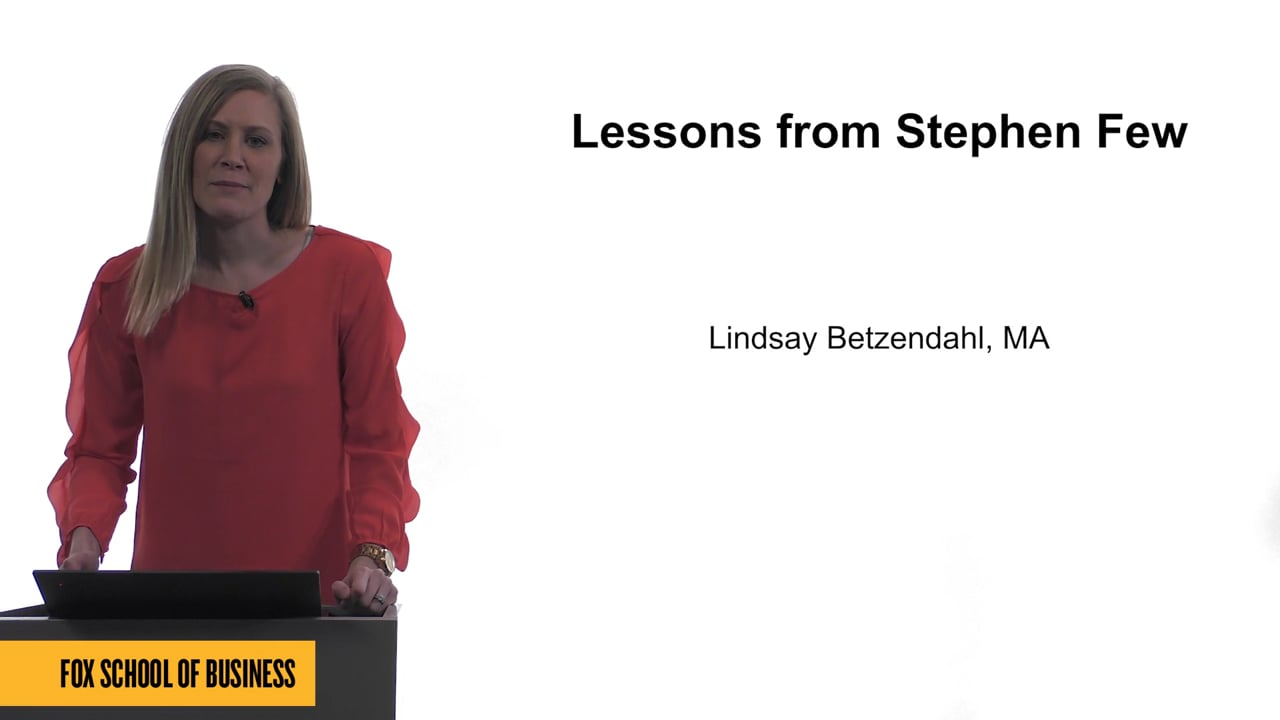 61736Lessons from Stephen Few