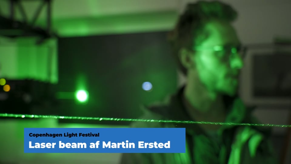 Copenhagen Light Festival - Green Beam III by Båll & Brand