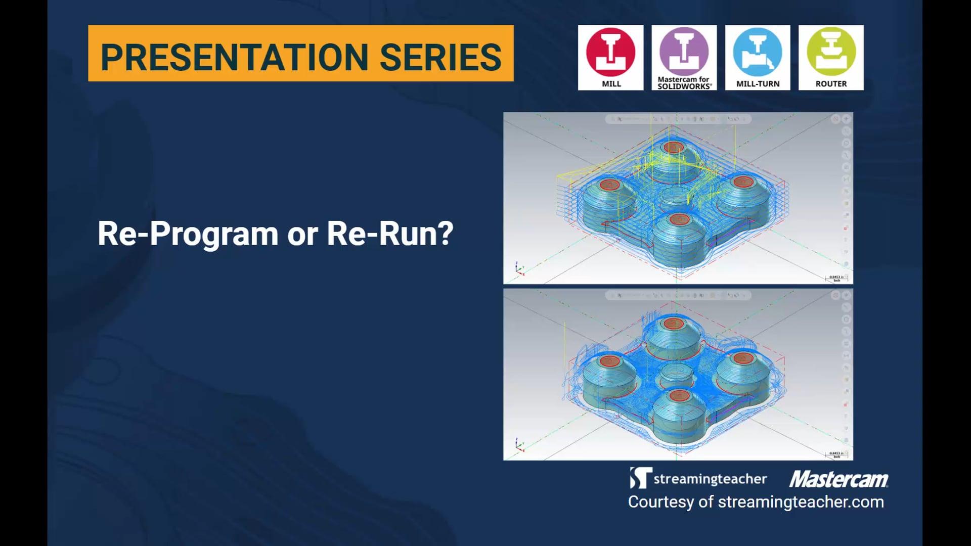 Re-Program or Re-Run?