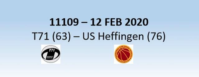 N1H 11109 T71 Dudelange (63) - US Heffingen (76) 12/02/2020
