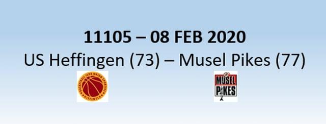 N1H 11105 US Heffingen (73) - Musel Pikes (77) 08/02/2020