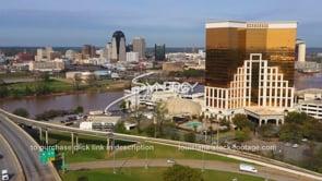 1560 horseshoe casino reveals Shreveport Louisiana skyline