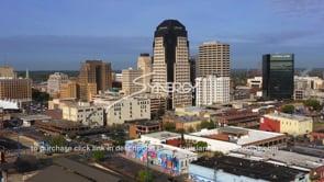 1566 downtown shreveport aerial arc of skyline