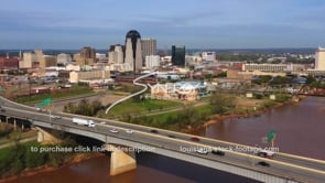 1571 interstate 20 downtown Shreveport Louisiana Red River aerial
