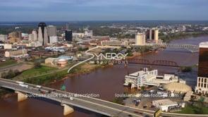 1574 Nice Shreveport aerial skyline drone