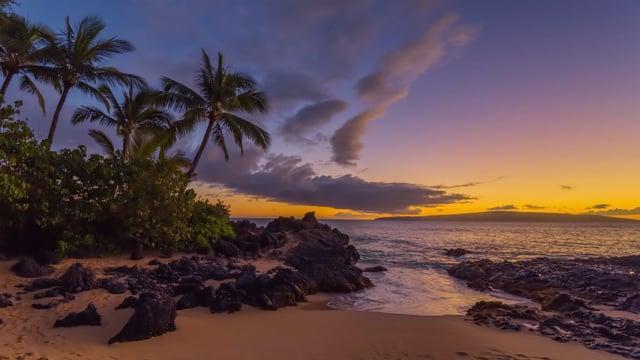 Calming Beauty of Nature: Baby Beach Sunset, Maui, Hawaii
