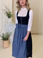 Gottseidank Dirndl Eva NS nachtblau-oxfordblau