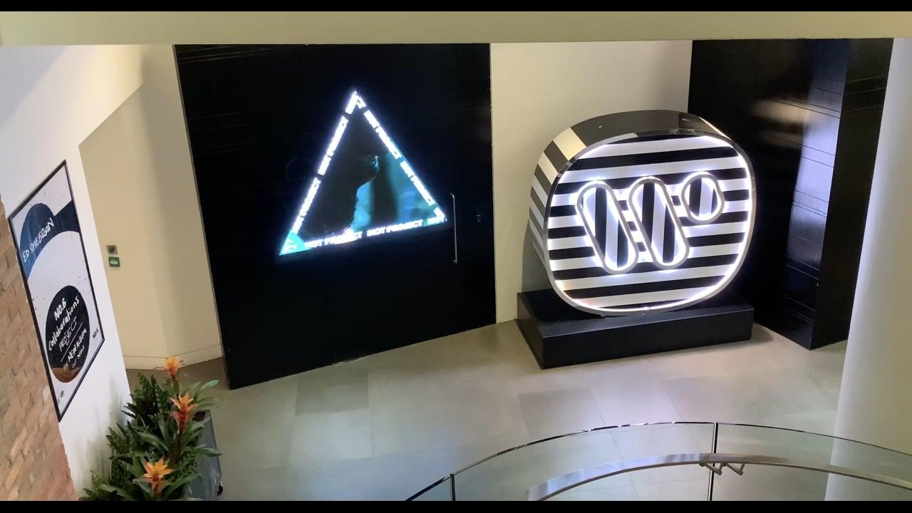 Custom LED Triangles For Warner Music Group