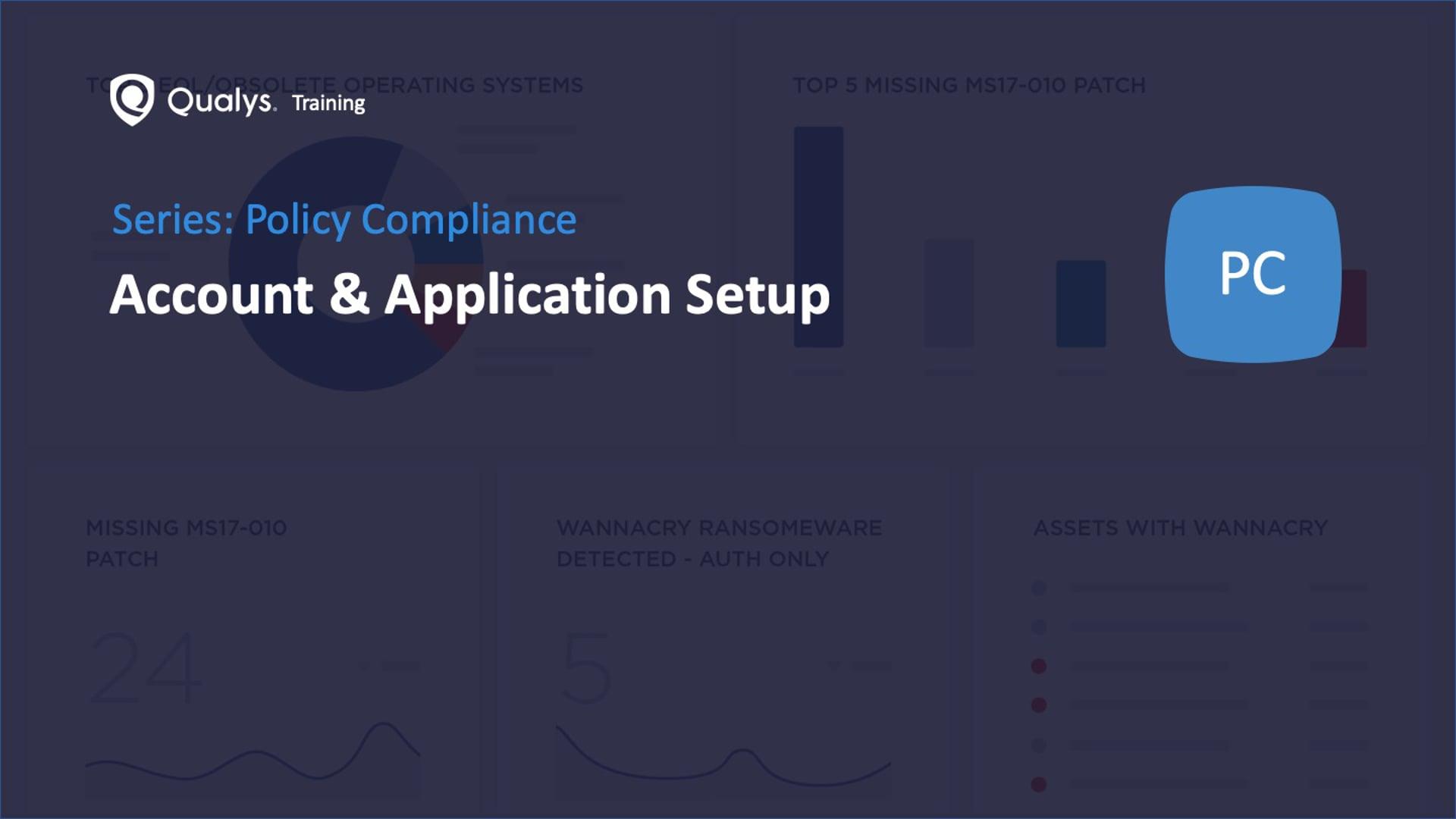 Account & Application Setup