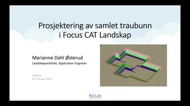 Samlet Trau i Civil 3D og Focus CAT Landskap