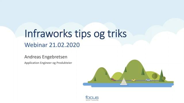Infraworks 2020 Tips og Triks