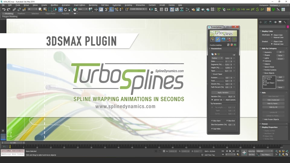Introducing TurboSplines 3dsMax plugin