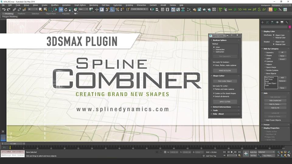 Introducing Spline Combiner 3dsMax plugin