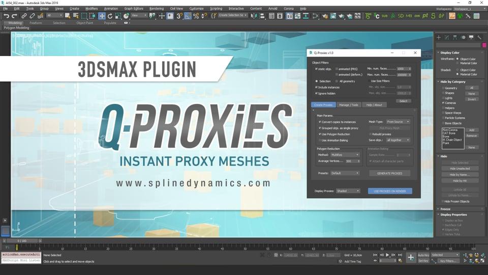 Introducing Q-Proxies 3dsMax plugin
