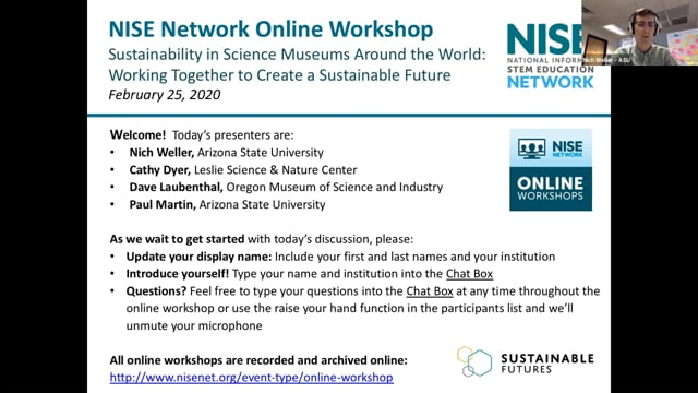 Online Workshop: Sustainability & Museum Operations: Practices, Partnerships, & Resources to Become a More Sustainable Org