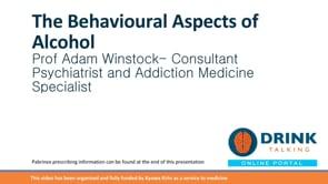 Professor Adam Winstock – The behavioural aspects of alcohol – part 1