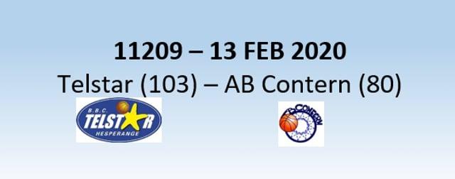 N1H Telstar Hesperange (103) - AB Contern (80) 13/02/2020
