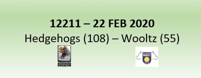 N2H 12211 Hedgehogs Bascharage (108) - Les Sangliers Wooltz (55) 22/02/2020