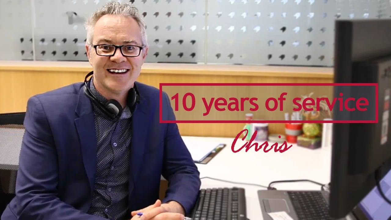 Chris Laurent - 10 years at Georgiou