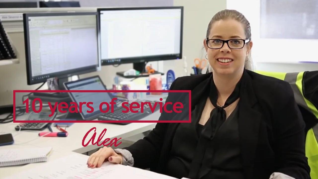 Alex Brown - 10 years at Georgiou