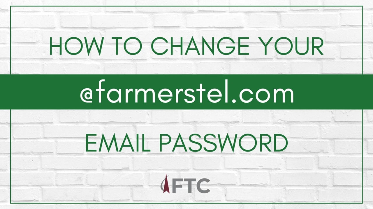 How to Change Your @Farmerstel Email Password