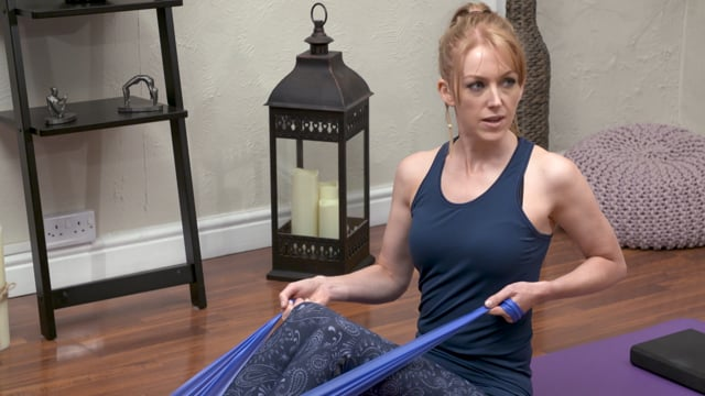 Shoulder Strengthening Pilates with band