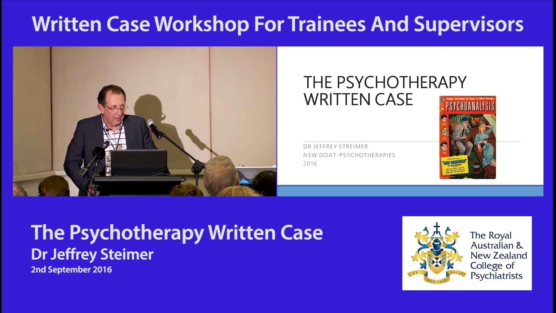 Psychotherapy Workshops September 2016
