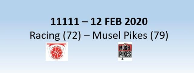 N1H 11111 N1H Racing Luxembourg (72) - Basket Esch (79) 12/02/2020