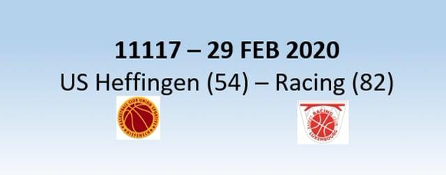 N1H 11117 US Heffingen (54) - Racing Luxembourg (82) 29/02/2020
