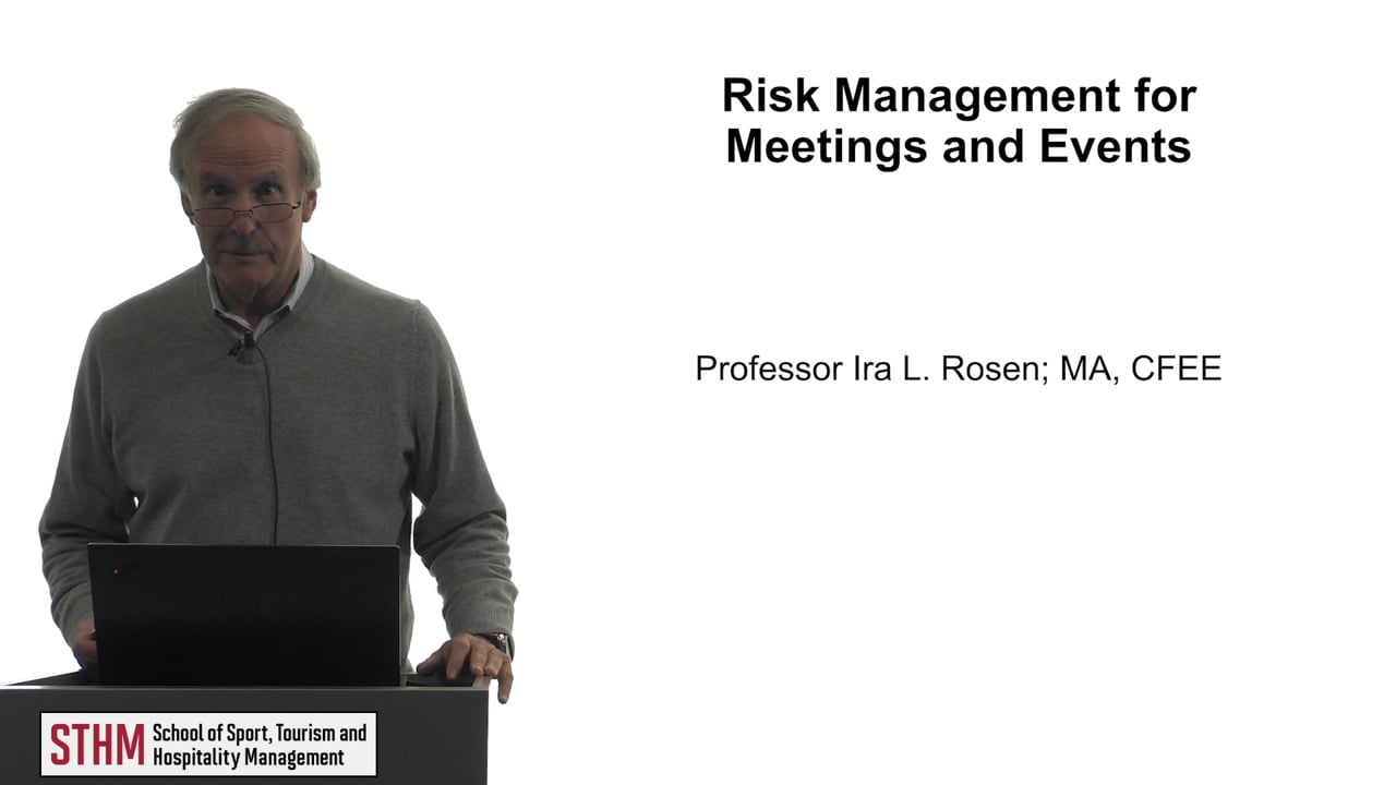 61775Risk Management for Meetings and Events