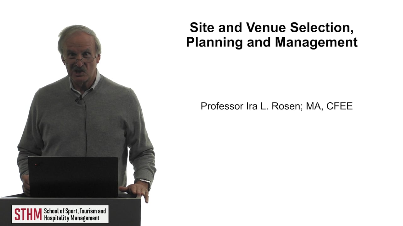 61776Site and Venue Selection, Planning and Management