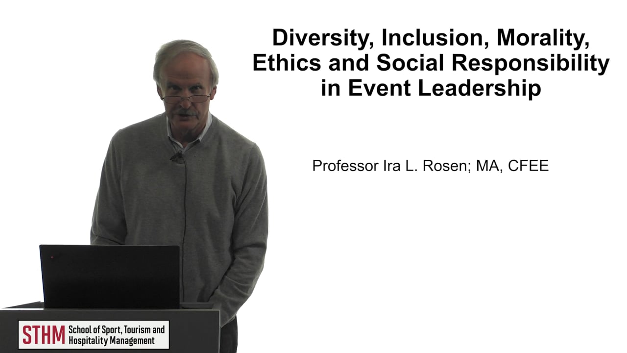 61778Diversity, Inclusion, Morality, Ethics and Social Responsibility in Event Leadership
