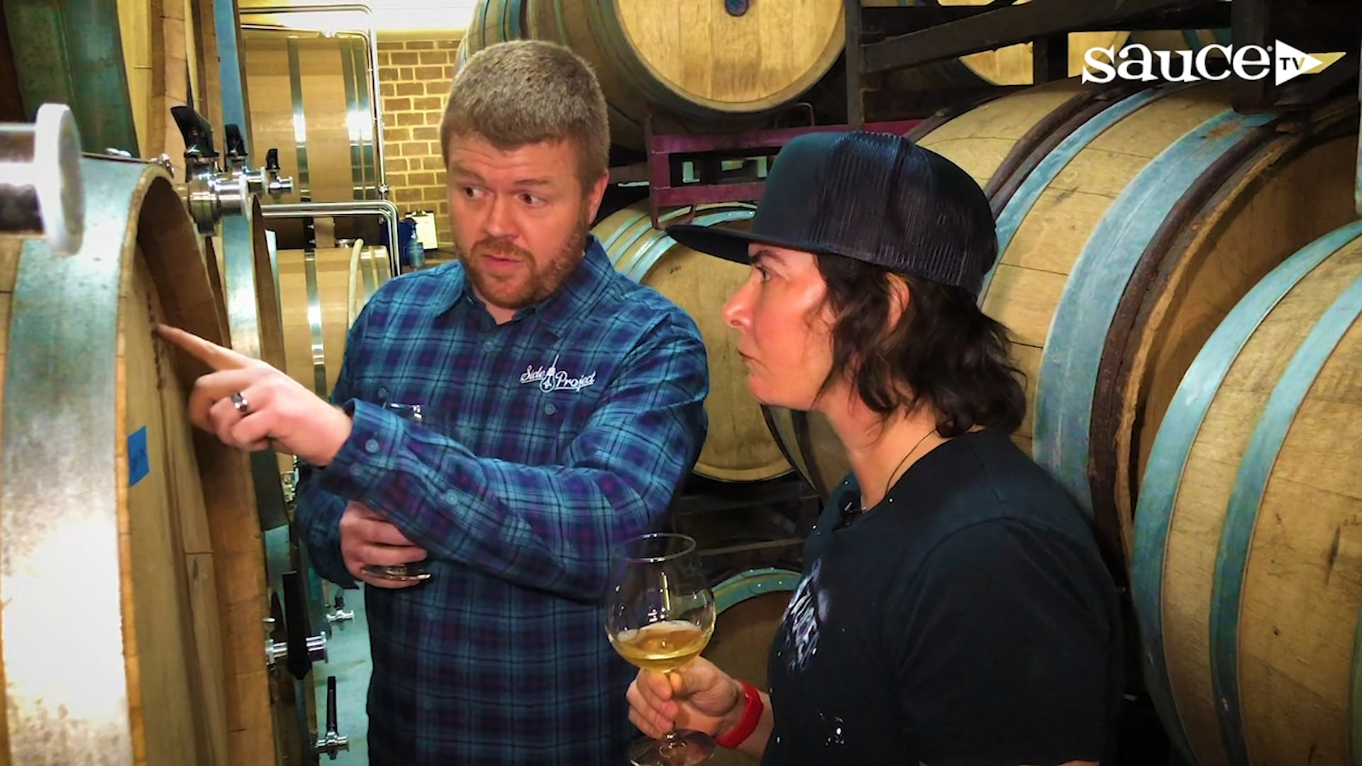 Side Project Brewing's Cory King pulls nails with SauceTV