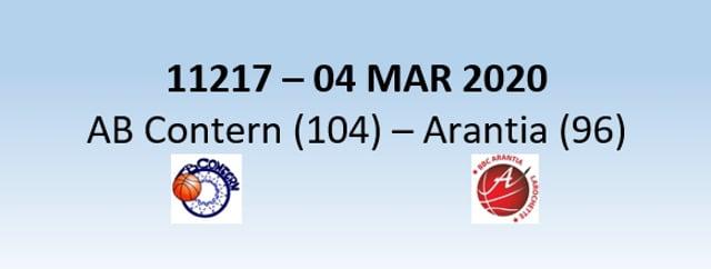 N1H 11217 AB Contern (104) - Arantia Larochette (96) 04/03/2020