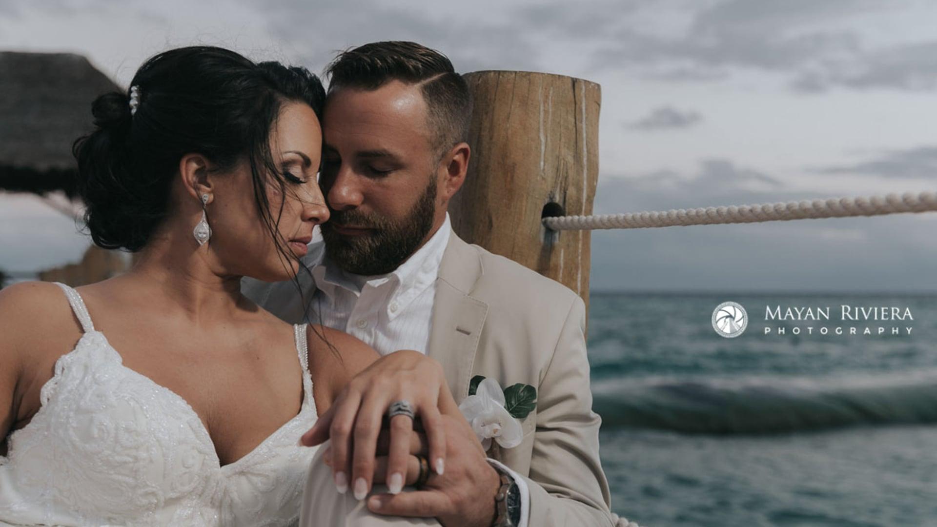 The Fives Azul Beach Wedding Film. Jennifer & Craig highlights