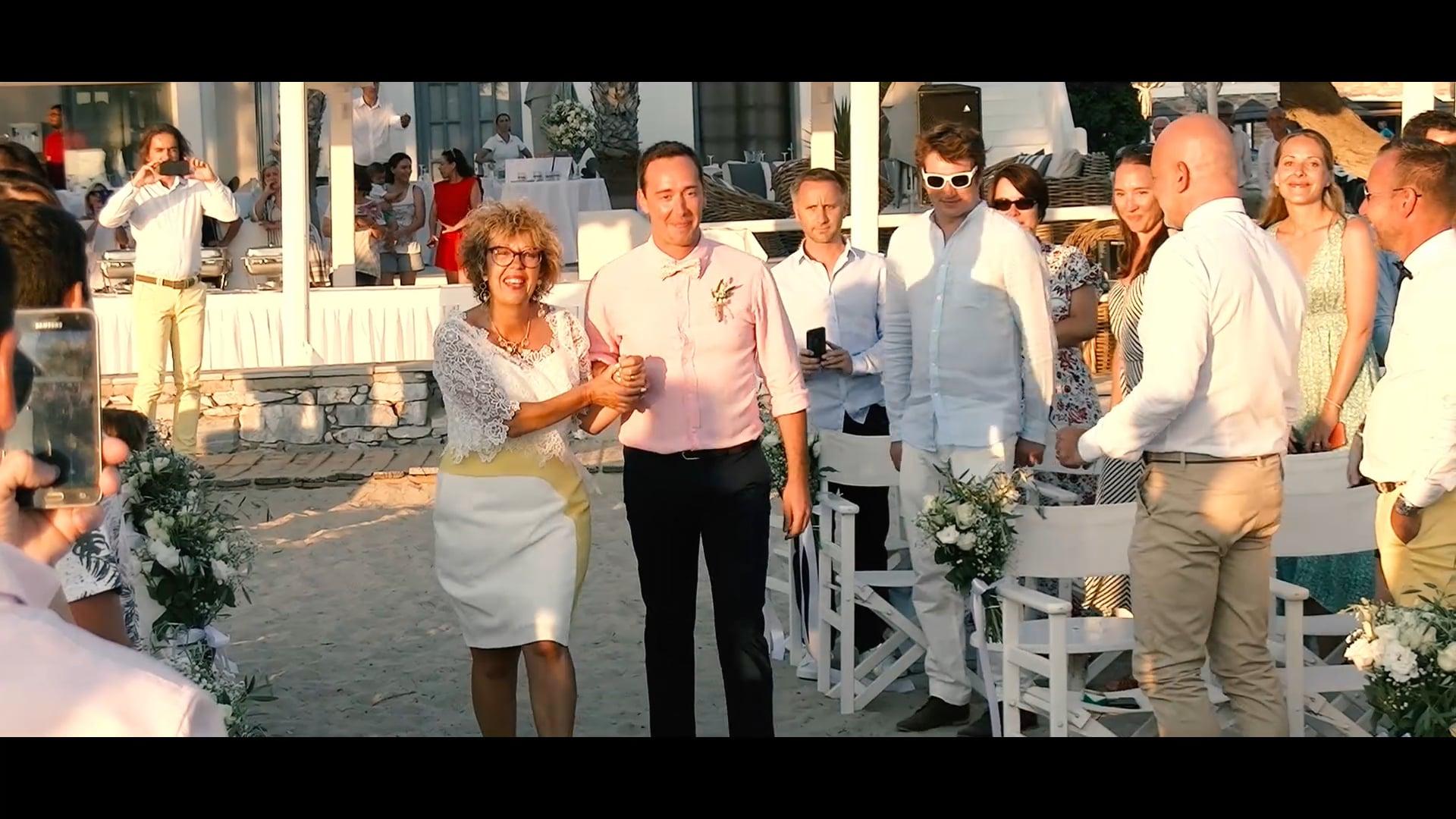 Gay destination wedding (beach party), Mathieu & Nicolas, Naxos island. DJ Nikos Alatas on decks, Teaser video, Epic!