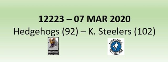 N2H 12223 Hedgehogs Bascharage (92) - Kordall Steelers (102) 07/03/2020