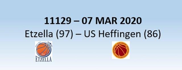 N1H 11129 Etzella Ettelbruck (97) - US Heffingen (86) 07/03/2020