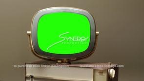 1650 Philco Predicta Princess green screen static