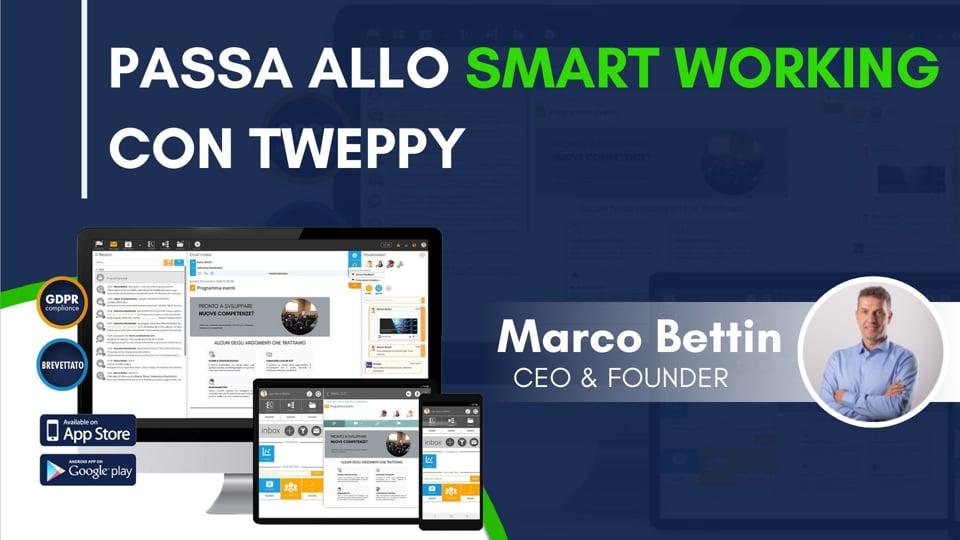 Passa allo smart working con Tweppy