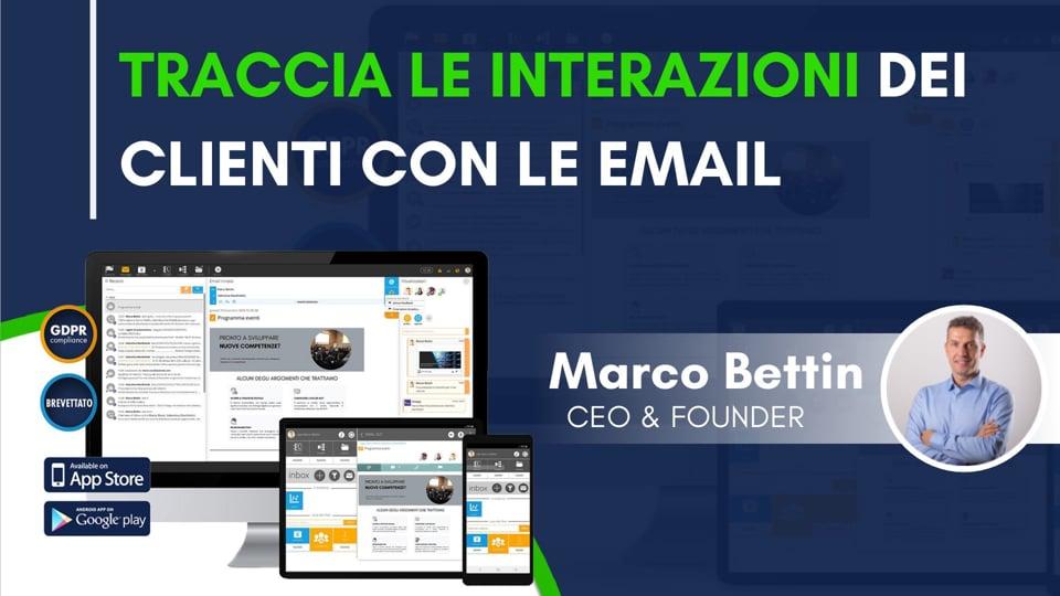 Traccia le interazioni dei clienti con le email
